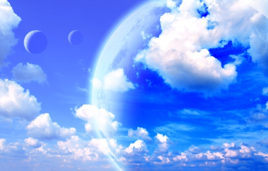 Beautiful sky, cloud and planet. Elements of this image furnishe