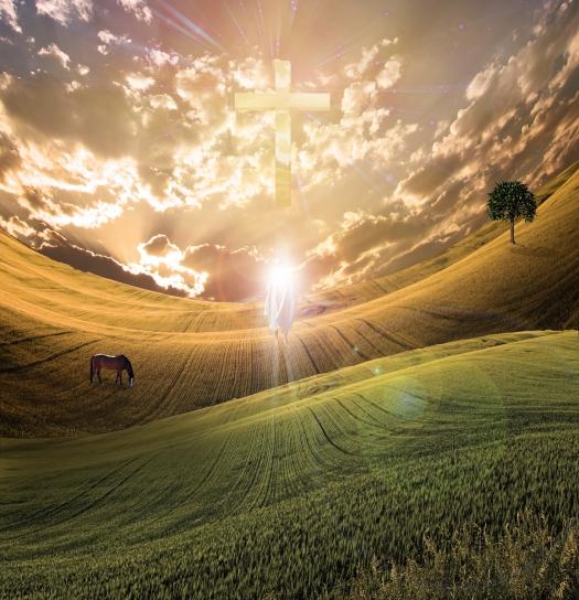 bigstock-Cross-radiates-light-in-sky-ov-32193857