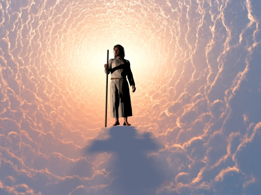 The image of Jesus in the clouds.