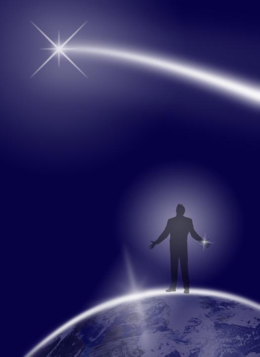 Human Being Asking Universe