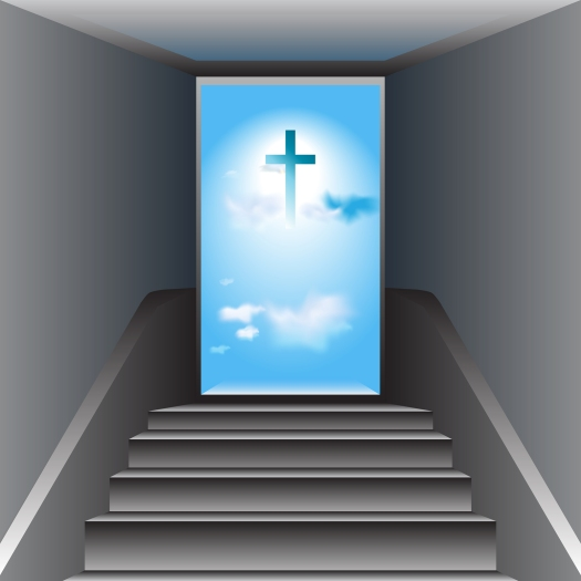 Stairway To Heaven. Way To God. The Cross Of Jesus Christ