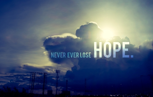 "Inspiration Quote : "" Never Ever Lose Hope"" With Sun Burst Behin"