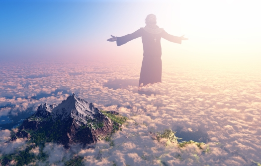 bigstock-Jesus-walking-on-clouds-51418987