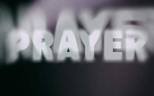 Prayer Word On Vintage Blurred Background