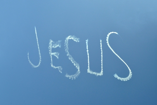 Religious Inscription From The Clouds In The Sky Jesus.