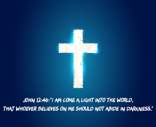 cross light. Jesus light. isolated on background. Vector illustration. Eps 10.