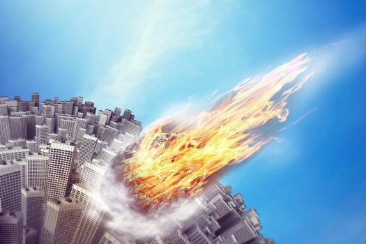 Meteorite is flying towards the Earth