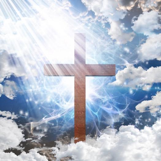 Cross in light