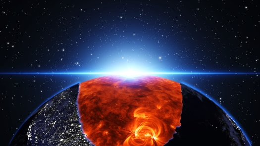 Earth burning or exploding after a global disaster, Apocalypse a