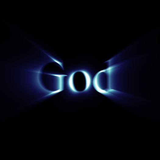 Glowing word God