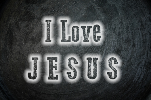 I Love Jesus Concept