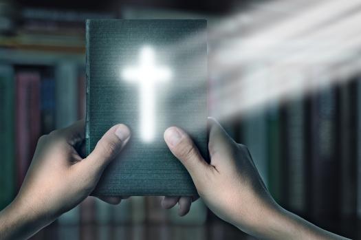 Magic Bible Book With Magic Cross Light