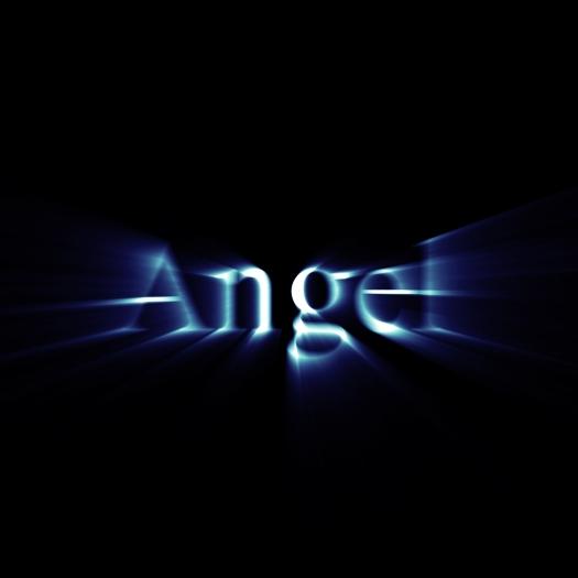 Glowing word angel