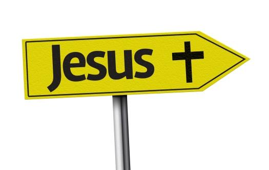 Jesus creative sign on white background