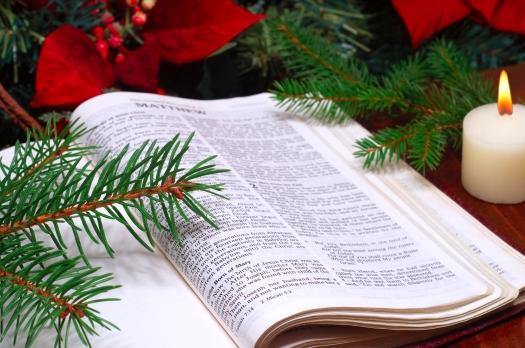 Bible Christmas Arrangement