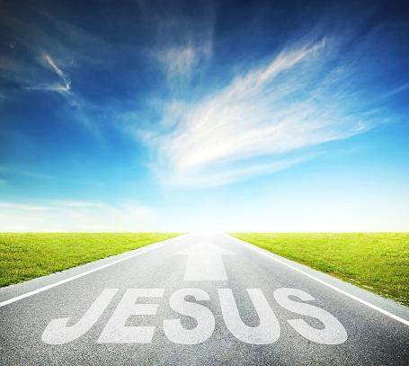 jesus way on asphalt road