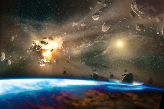 Falling Meteorites Of Asteroids In The Earth's Atmosphere. Apoca