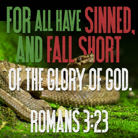 For All Have Sinned, And Fall Short Of The Glory Of God. Romans