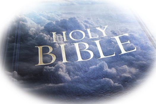 Jesus Christ Holy Bible With Clouds High Quality