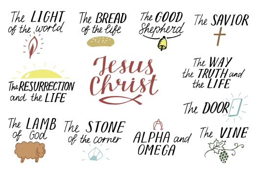 Set Of 11 Hand Lettering Christian Quotes About Jesus Christ. Sa