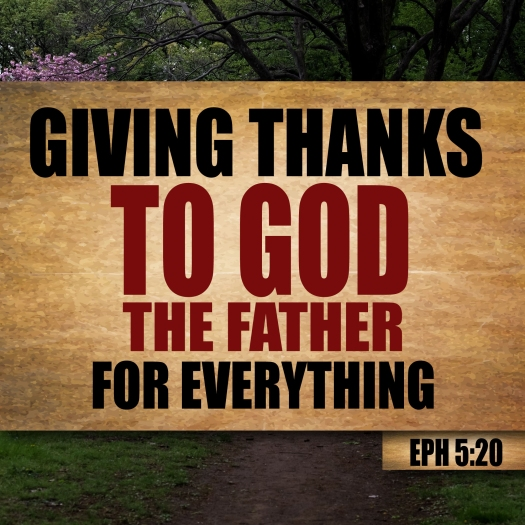 Thanksgiving Ephesians 5:20 Giving thanks to God the Father for everything.