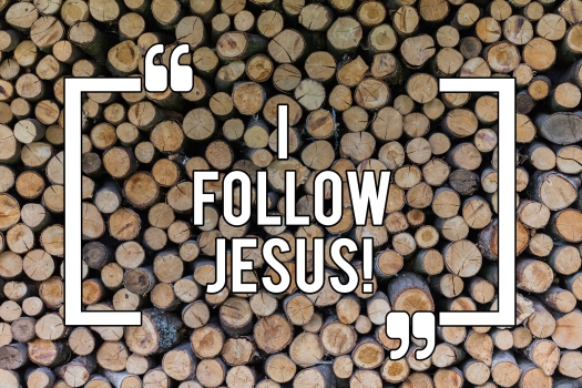 Conceptual Hand Writing Showing I Follow Jesus. Business Photo T