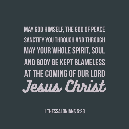 Biblical Phrase From 1 Thessalonians 5, May God Himself, The God