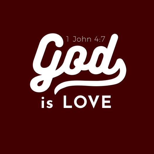 Biblical Scripture Verse From 1 John,god Is Love For Use As Post